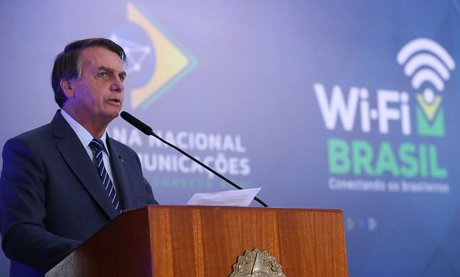 Jair Bolsonaro, abertura da semana das Comunicações