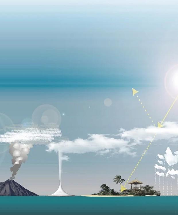 vulcão-fabricante-de-nuvens (Foto: Designboom/ Reprodução)