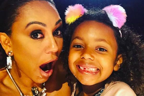 A cantora Mel B com a filha caçula (Foto: Instagram)