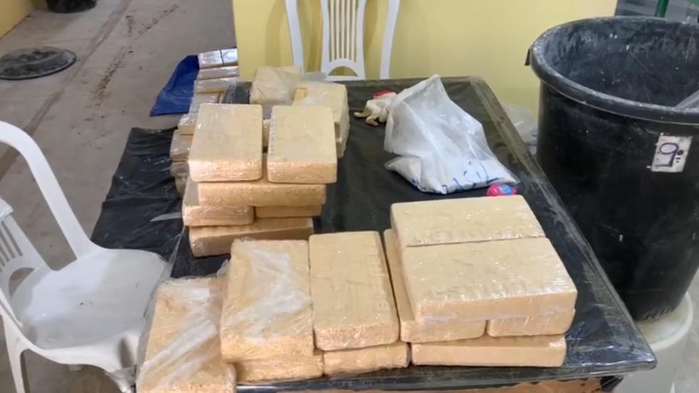 Polícia apreendeu grande quantidade de cocaína em sítio em Nazaré Paulista — Foto: SSP/Divulgação