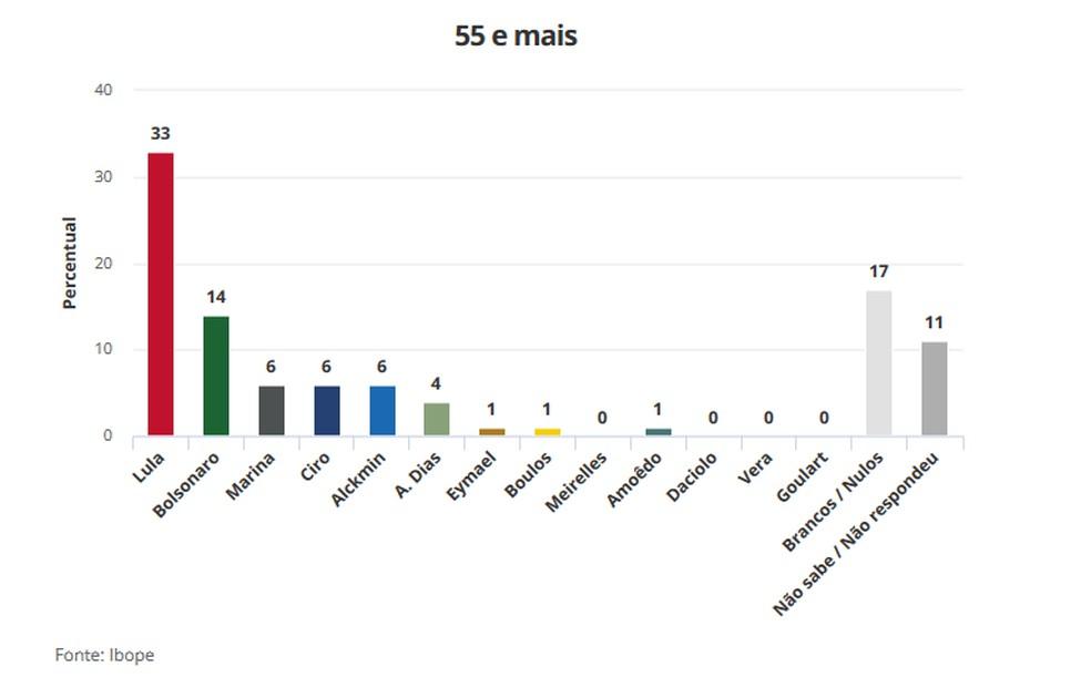 Eleições - Faixa etária 55 e mais (Foto: Arte/G1)