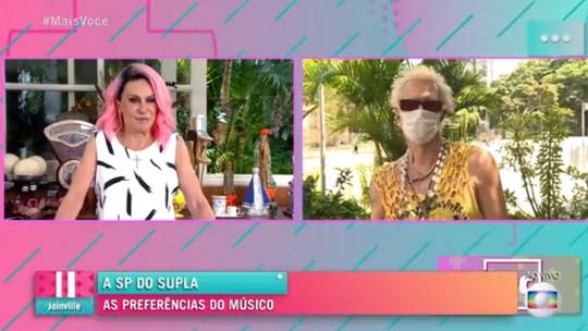 Supla elogia cabelo rosa de Ana Maria Braga: 'Gostei, hein!'