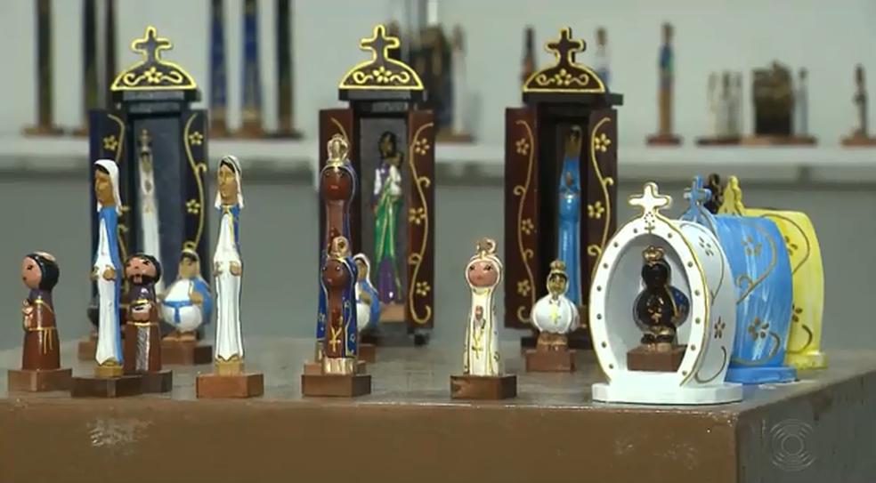 Peças artesanais estão expostas na 28ª edição do Salão do Artesanato em Campina Grande (Foto: Reprodução/TV Paraíba)