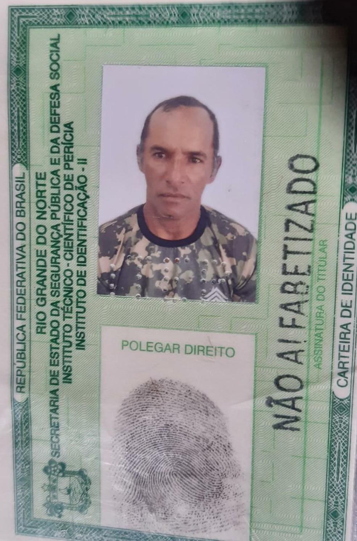 Servente de pedreiro Edinaldo Bezerra de Melo, de 46 anos, foi assassinado com golpes de pá na Grande Natal — Foto: Reprodução