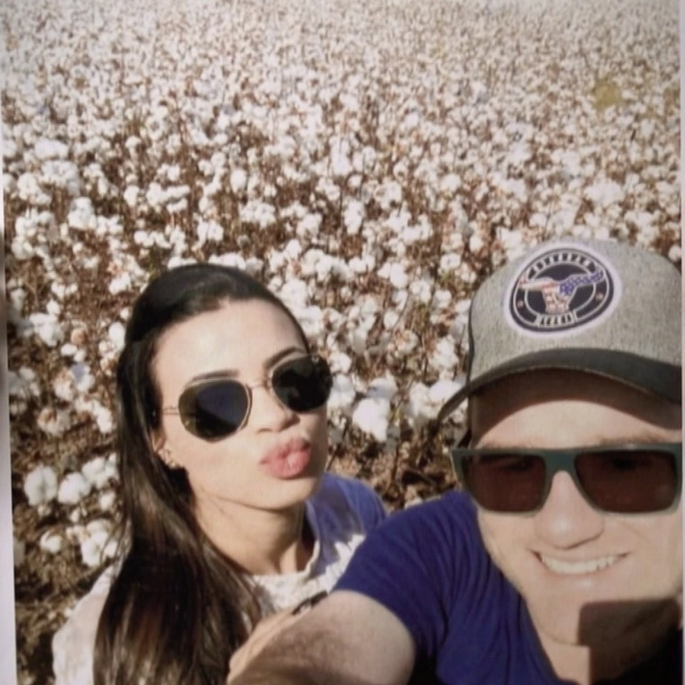 Júlia viajou a Sorriso para comemorar o aniversário de Vitor — Foto: Fantástico/Reprodução