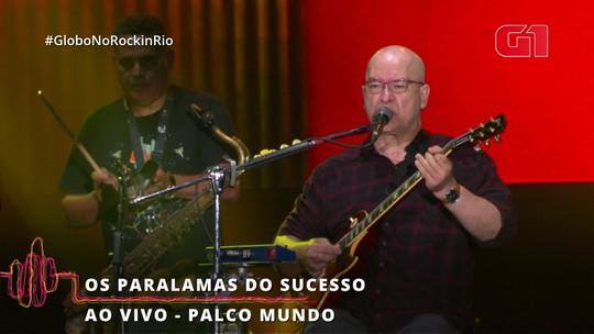 """Paralams do Sucsso toca """"Alagados"""" no Rock in Rio"""