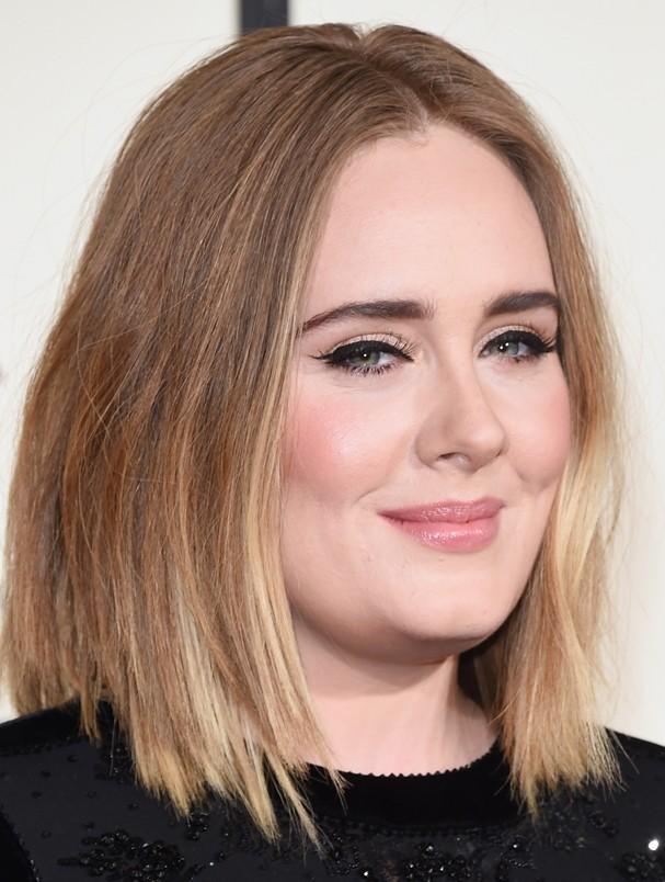 Adele na edição 58 do Grammy (Foto: Getty Images)