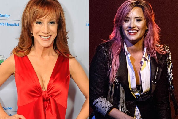 Kathy Griffin e Demi Lovato (Foto: Getty Images)