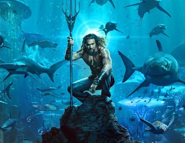 Jason Momoa como Aquaman (Foto: Divulgação)