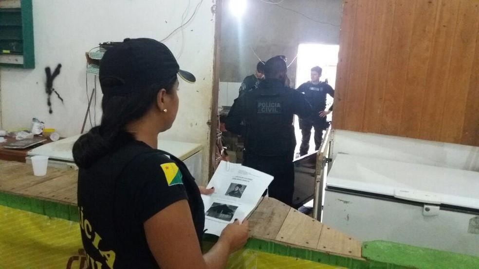 Ao todo, 16 mandados foram cumpridos em opera��o no interior do Acre (Foto: Divulga��o/Pol�cia Civil)