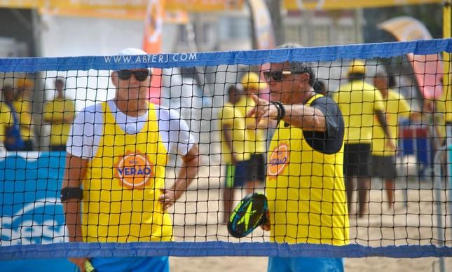 Lucio Macedo, à esquerda, e José Júnior durante o torneio