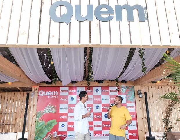 Raphael Vianna e Projota no QUEM On Stage (Foto: Renato Wrobel/Editora Globo)