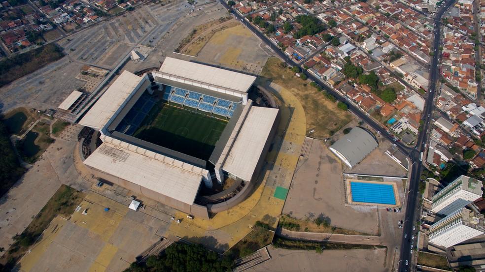 Arena Pantanal foi construída para a Copa de 2014 — Foto: Rodolfo Perdigão/Secom-MT