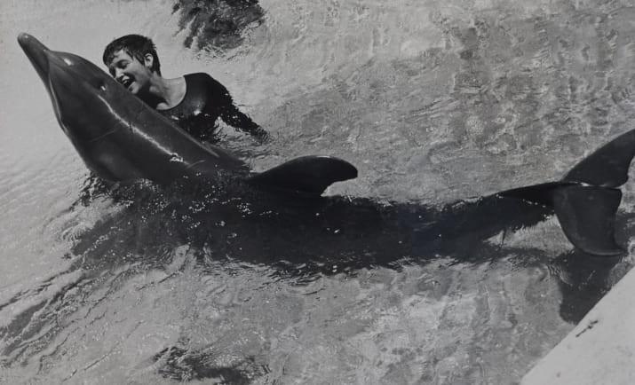 Margareth Howe Lovatt e o golfinho Peter (Foto: Reprodução/YouTube)