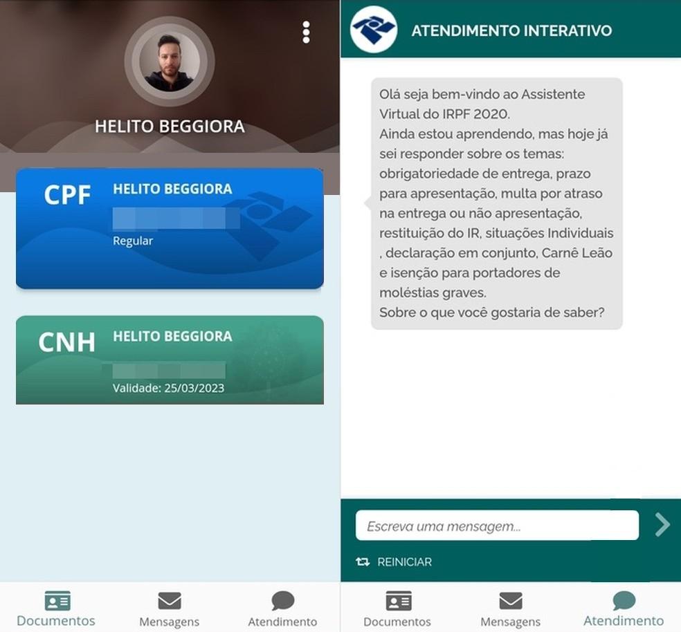 Consulte CPF e CNH pelo app CPF Digital  — Foto: Reprodução/Helito Beggiora