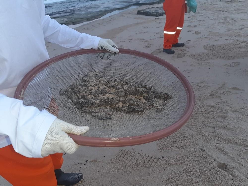 Manchas de óleo começam a chegar às praias de Camaçari 4