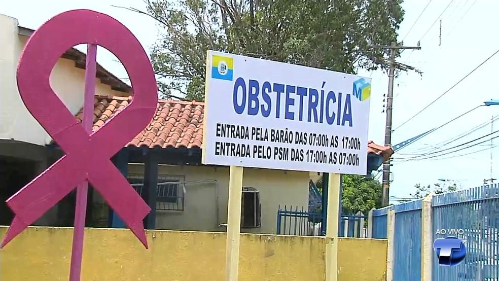 Nova entrada para mulheres em trabalo de parto foi inaugurada no dia 16 de outubro (Foto: Reprodução/TV Tapajós)