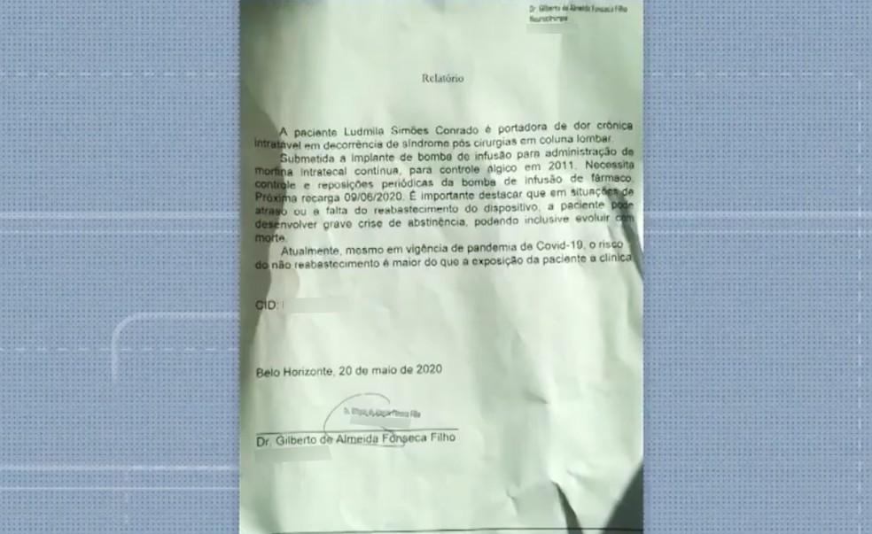 Ludmila conta que enviou laudo médico para as empresas, mas que ainda assim as providências não foram tomadas — Foto: Reprodução/TV Bahia