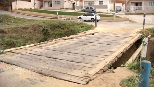 Ponte em mau estado de conservação preocupa moradores de Paraíba do Sul
