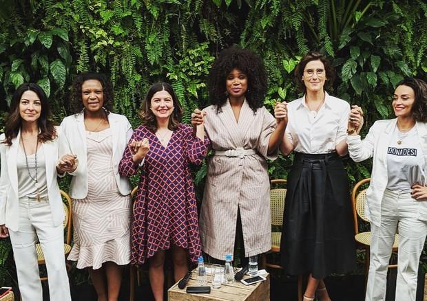 Ana Paula Padrão, Eliane Dias, Juliana de Faria, Kenia Maria, Paola Carosella e Suzana Pires (Foto: Reprodução/Instagram)