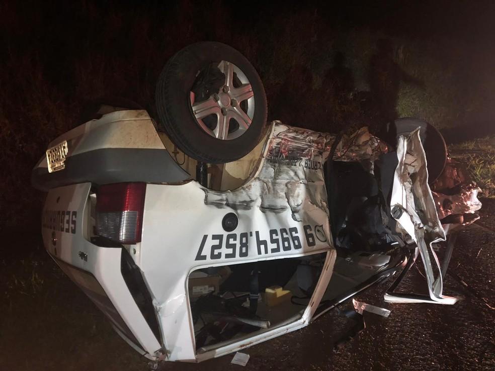 Cinco pessoas ficam feridas em acidente envolvendo três carros na BR-369  — Foto: Divulgação/PRF