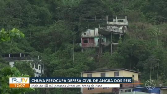 Chuva contínua preocupa Defesa Civil de Angra dos Reis