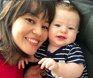 Geovanna Tominaga e o filho, Gabriel | Reprodução/ Instagram