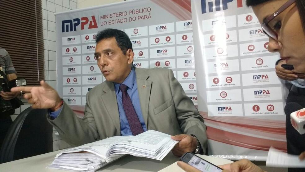 Armando Brasil Teixeira, promotor do Ministério Público Militar do Pará (Foto: Luiz Cláudio Fernandes)