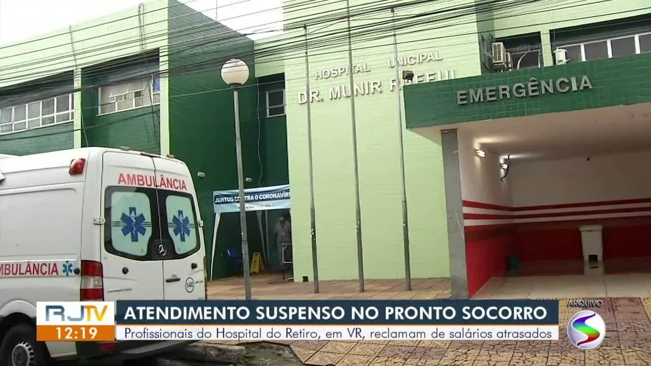 Pronto-socorro do Hospital do Retiro, em Volta Redonda, continua com atendimento suspenso