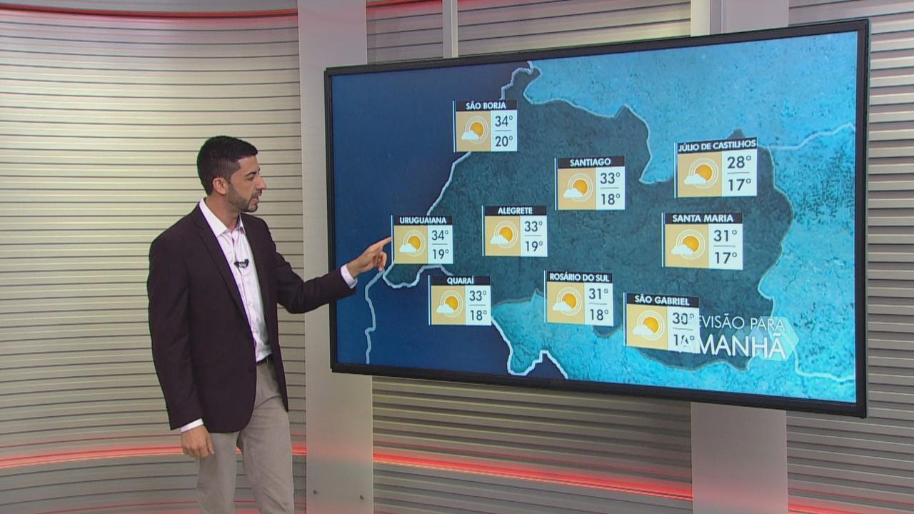Previsão é de tempo firme e sol em quase todo o RS neste domingo (28)