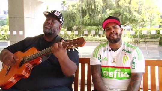 Péricles e Rodriguinho fazem esquenta para Corinthians x Palmeiras