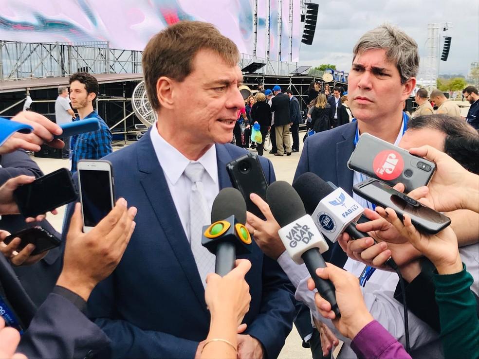 El presidente de Embraer, Francisco Gomes Neto - Foto: Robson Carvalho / TV Vanguarda