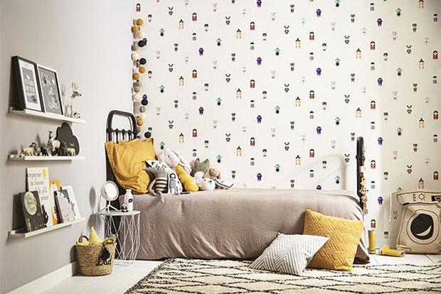 Marca francesa cria papel de parede que conta histórias para dormir (Foto: Divulgação)