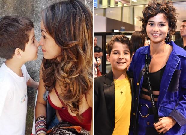 Luiz Felipe Mello e Nanda Costa em dois momentos: na novela Salve Jorge (2013) e na pré-estreia de Aos Teus Olhos (2018) (Foto: Divulgação)