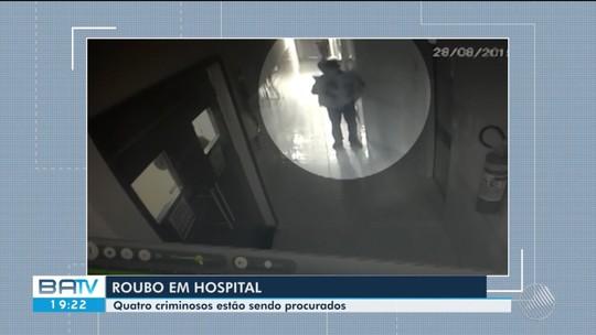 Vídeo mostra ação de bandidos que se passaram por pacientes e roubaram equipamento de R$ 150 mil de hospital na Bahia