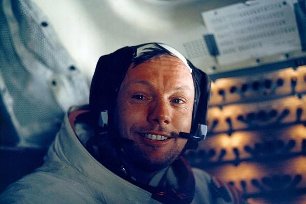 O astronauta Neil Armstrong em 1969, durante sua viagem à Lua (Foto: Getty Images)