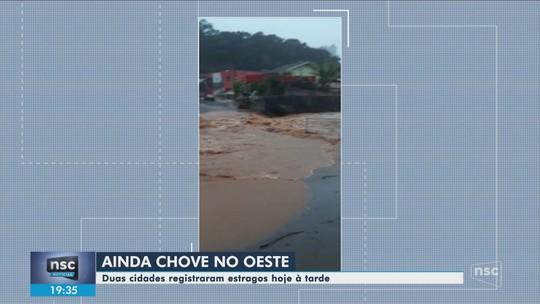 Chuva causa alagamentos e deslizamentos neste sábado em SC