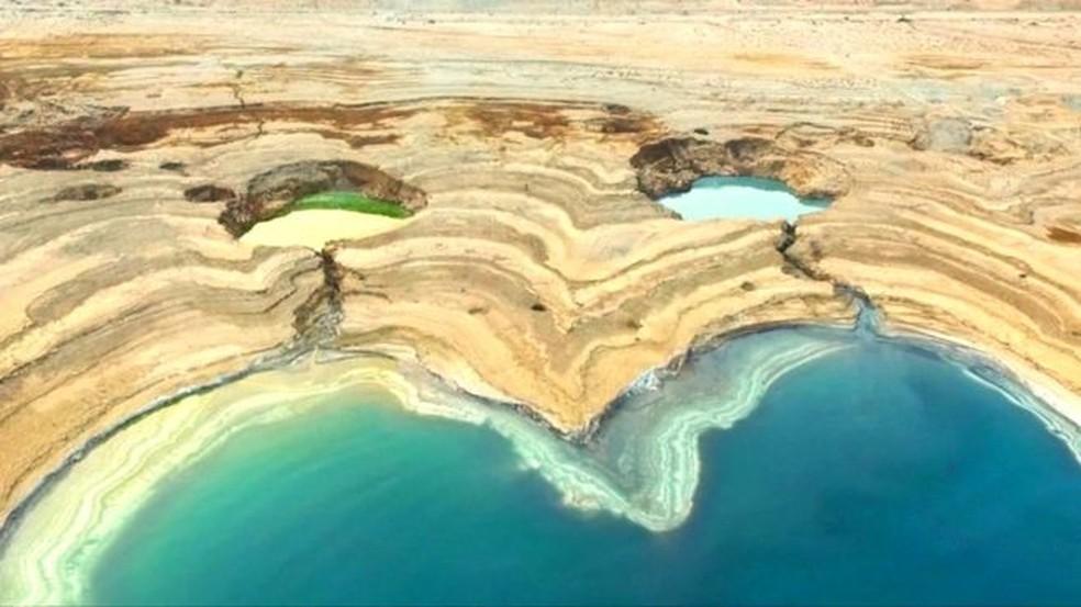 Os poços são resultado da escassez de água  (Foto: BBC)