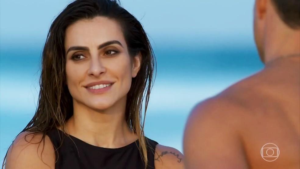 Tamara (Cleo) desabafa sobre sua vida com Apolo (Malvino Salvador) - 'Haja Coração' — Foto: Globo