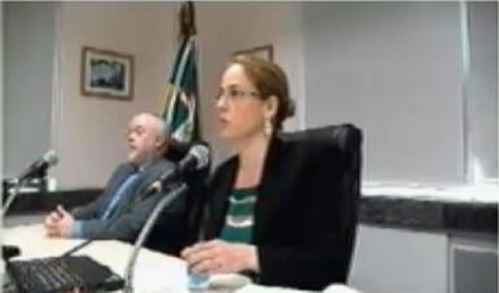 Gabriela Hardt condenou na terça-feira (19) nove réus acusados de envolvimento em um esquema de pagamento de mais de US$ 825 milhões entre a Petrobras e a construtora Odebrecht. — Foto: Reprodução