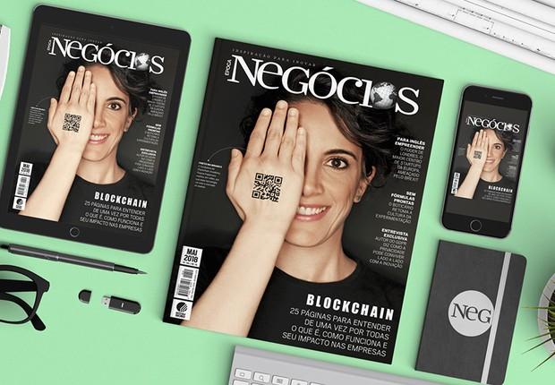 Blockchain, o assunto de capa da Época NEGÓCIOS de maio de 2018 (Foto: Divulgação)