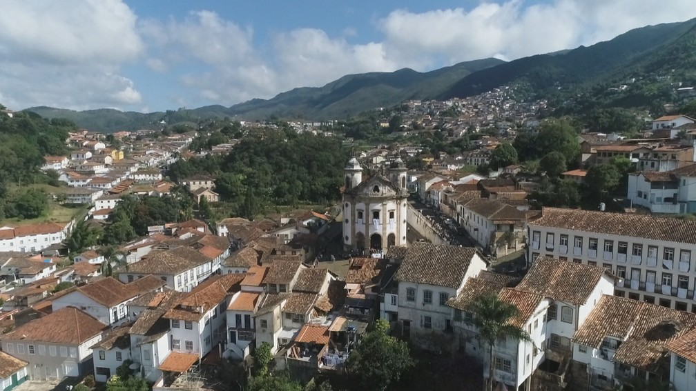 Menos de 2% do esgoto de Ouro Preto é tratado, segundo a prefeitura. — Foto: Reprodução/TV Globo