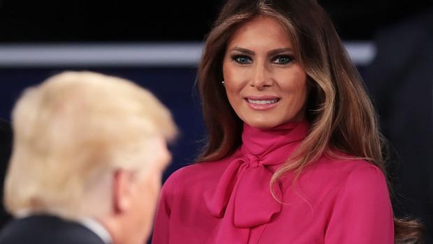 Melania Trump acompanha debate presidencial nos Estados Unidos (Foto: Scott Olson / Getty Images)