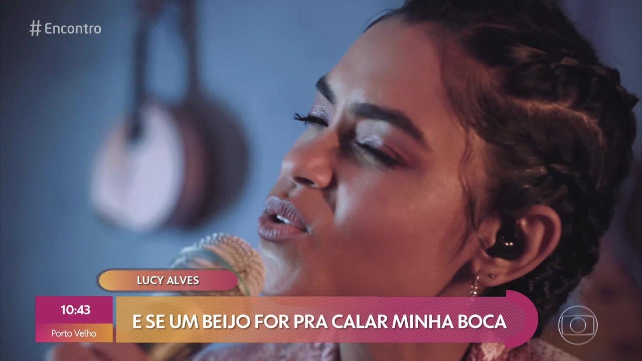 Lucy Alves canta ´Me deixa ser mulher´exclusivamente para o Encontro