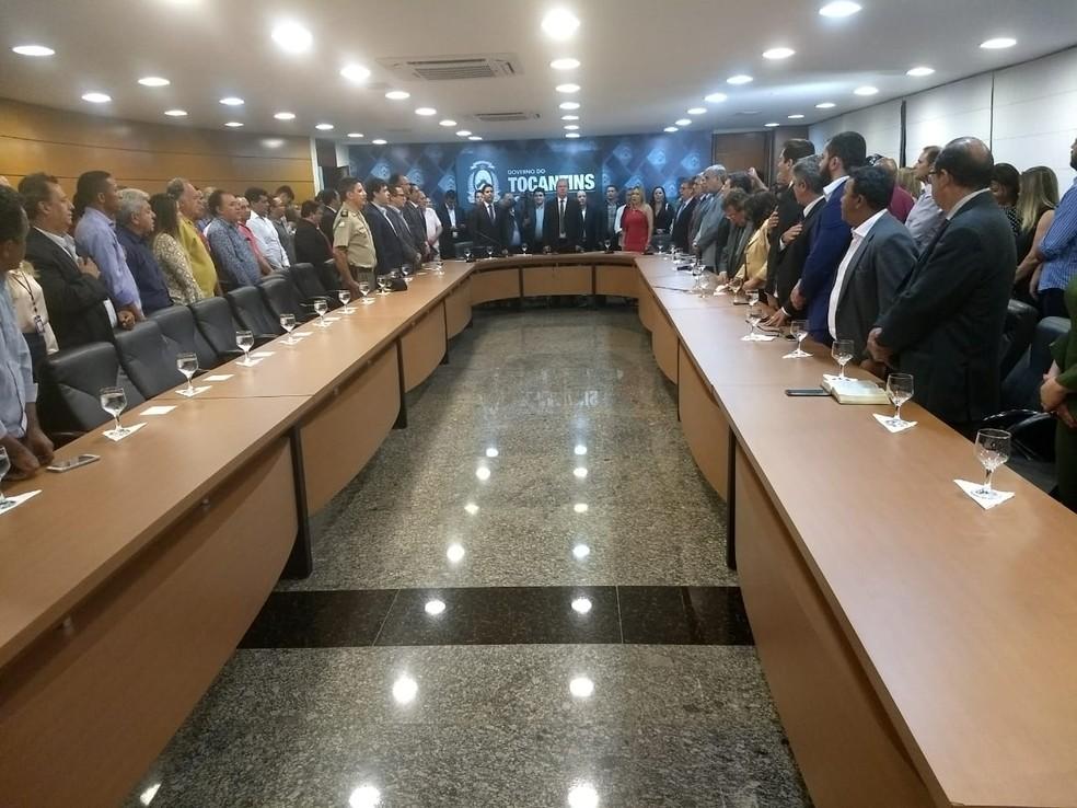 Mauro Carlesse começou a definir equipe de governo (Foto: Gabriela Lago/G1)