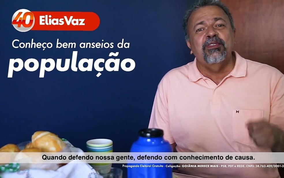 Elias Vaz PSB Goiânia, Goiás — Foto: Reprodução/TV Anhanguera