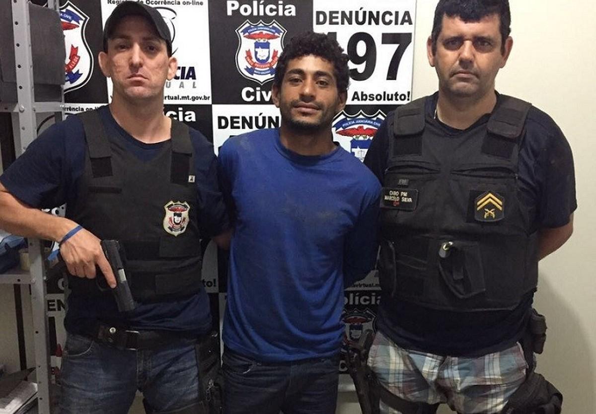 Jovem que matou adolescente em MT e fugiu de delegacia após fazer buraco na parede é preso de novo