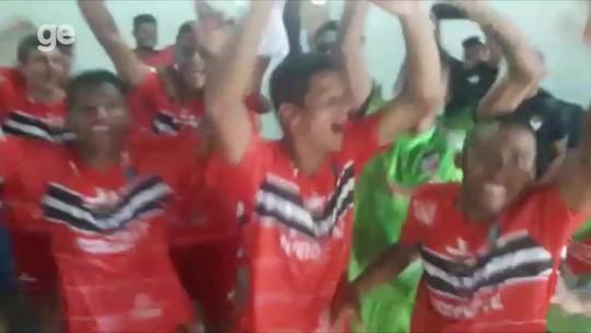 Jogadores do River-PI vibram vaga na semi da Copa do Nordeste sub-20