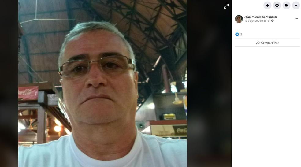 João Marcelino Manassi morreu após saltar de paraquedas em Boituva (SP) — Foto: Reprodução/Facebook