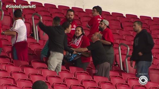 Torcedores do Inter envolvidos em caso de agressão a mulher e filho no Gre-Nal são punidos
